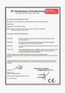 Certyfikat - deklaracja zgodności