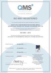 Certyfikat ISO 9001 : 2015